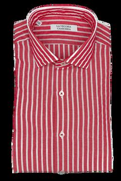 Camicia Riga Rossa e Bianca