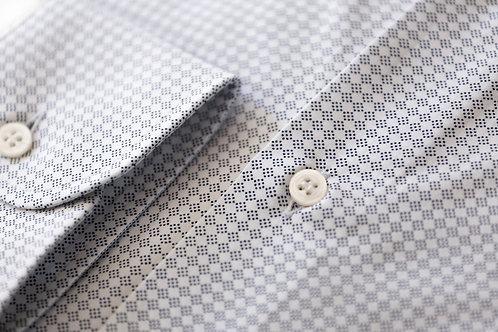 Camicia Bianca con Rombi Texturizzati
