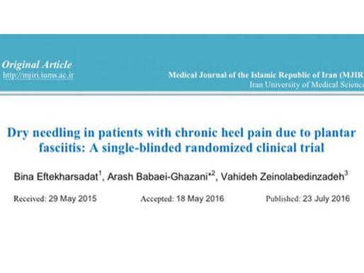 Trattamento dei trigger point in pazienti con dolore cronico al tallone dovuto a fascite plantare
