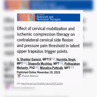 MOBILITA': Effetti della mobilizzazione cervicale e della compressione ischemica dei trigger points