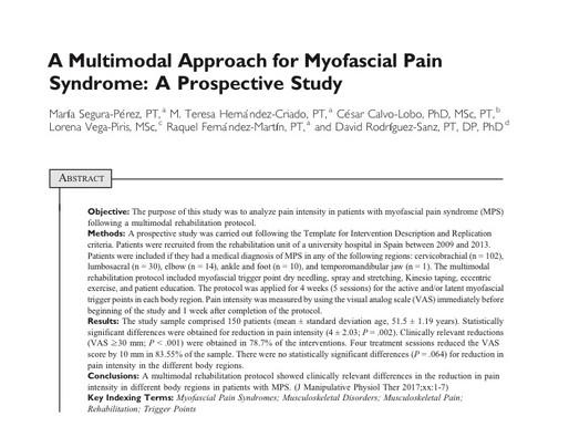 Trigger Point Italia, approccio multimodale alla sindrome da dolore miofasciale