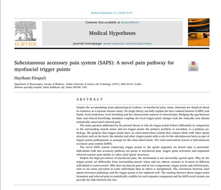 Trigger Point Italia, Subcutaneous Accessory Pain System (SAPS) nuovo Sistema di innervazione Extra