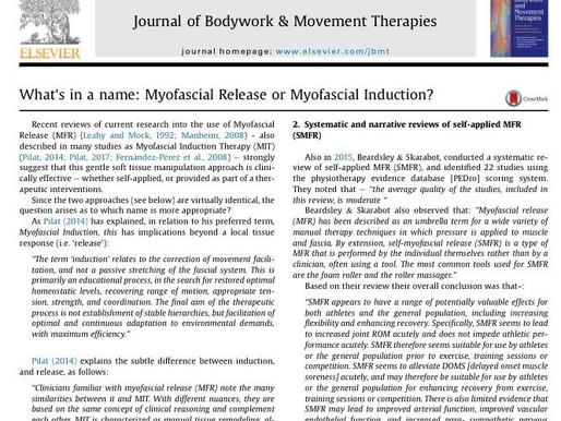 Trigger Point Italia, cosa si intende con: Myofascial Release o Myofascial Induction?