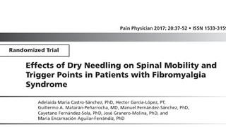 Trigger Point:effetti del Dry Needling sulla mobilità della colonna