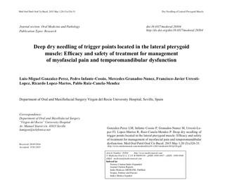 Dolore Temporomandibolare: trattamento dei trigger points del muscolopterigoideo vs farmaci