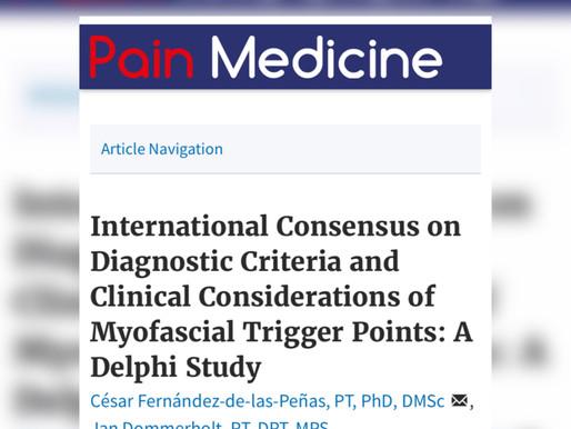 Consenso internazionale sui criteri diagnostici essenziali per la diagnosi di un trigger points