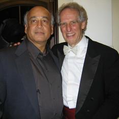 Shirish Korde and Ben Zander, Conductor, Boston Philharmonic Orchestra, 2007