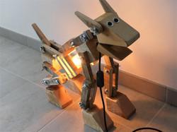 Lampe chien robot