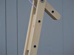 Lampe d'architecte en bois