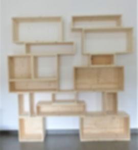 Bibliothèque modulable en bois