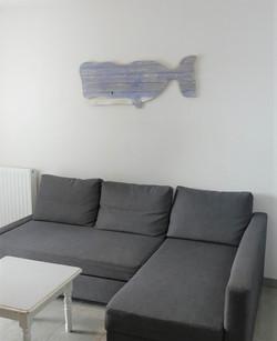 Baleine en bois de palette
