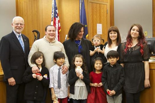 Adoption day for the Marchetti family