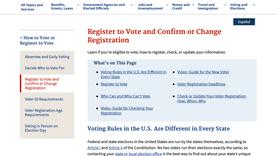 Register to Vote, Confirm, or Change Registration
