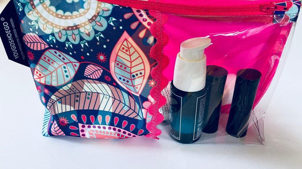 Patterned Makeup Bag