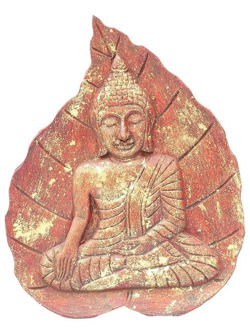 Tableau de bouddha sur feuille
