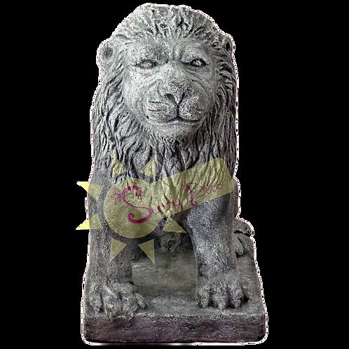 Lion assis pour chapeau de pilier