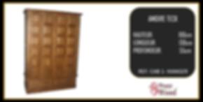 armoire 2 portes teck