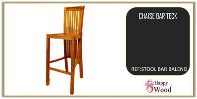 chaises de bar teck