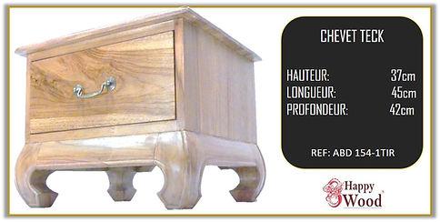 table de chevet style opium 1 tiroir