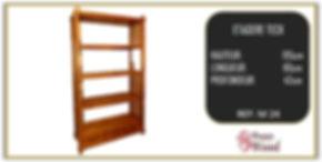 étagère teck à barreaux