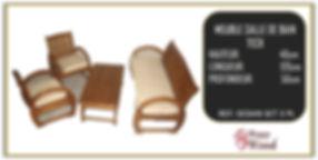 Salon 5 places avec table en teck