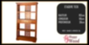 étagère teck style japonais