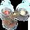 Thumbnail: Bougeoir racine 2 bougies