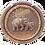 Thumbnail: Support à clés rond motif éléphants
