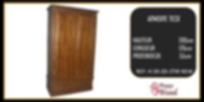 armoire 2 ports teck