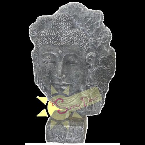 Tête de bouddha sur socle