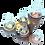 Thumbnail: Bougeoir racine 5 bougies