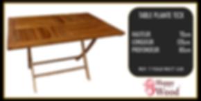 table de jardin en teck pliable