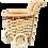 Thumbnail: Chariot porte bouteille en osier