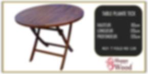 table de jardin en teck ronde