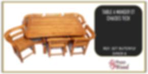 complet table et chaises en teck