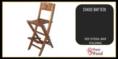 chaise de bar pliable teck