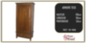 armoire une porte teck