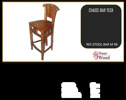 chaise de bar pivotant teck