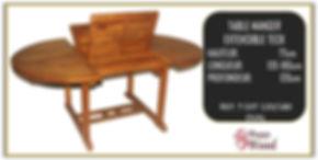 table à mager extérieur en teck extensible
