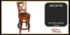 tabouret de bar pivotant en teck