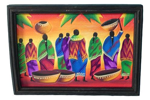 Tableau de personnages africains