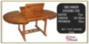 table extensible ovale en teck