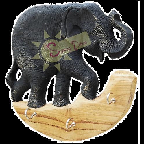 Support pour clés motif éléphant