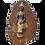 Thumbnail: Support à clés motif Bouddha