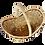 Thumbnail: Panier de forme ovale avec anse, contour oblique
