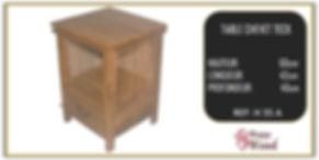 table de chevet en teck à barreaux