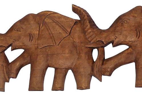 Fresque murale éléphants