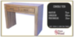 console teck 2 tiroirs style minimaliste
