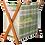 Thumbnail: Porte-revues en bois et toile