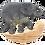 Thumbnail: Support pour clés motif éléphant